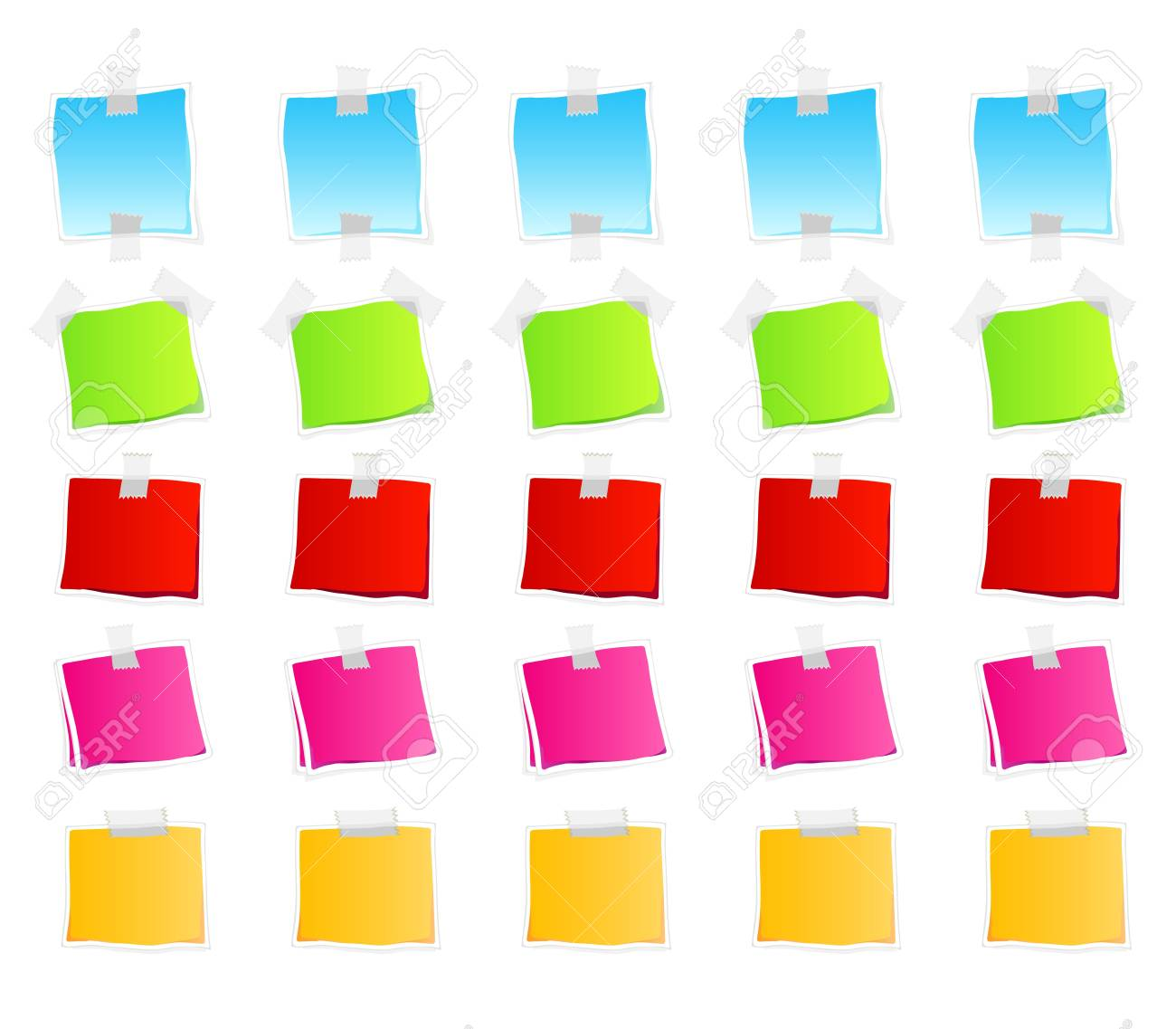 Vector illustration of sticky retail notes. 25 elements in various colorful versions. Stock Photo - 3496503