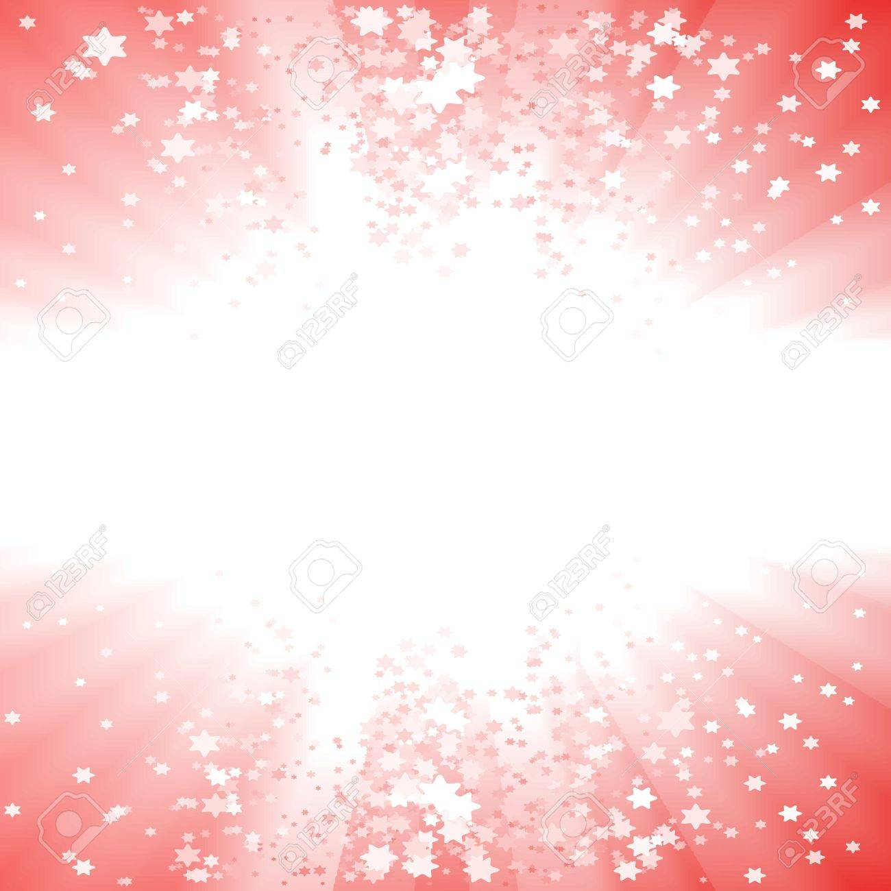 Vector illustration of a magical red Christmas explosion of stars. Glowing light center for custom elements. - 4014306