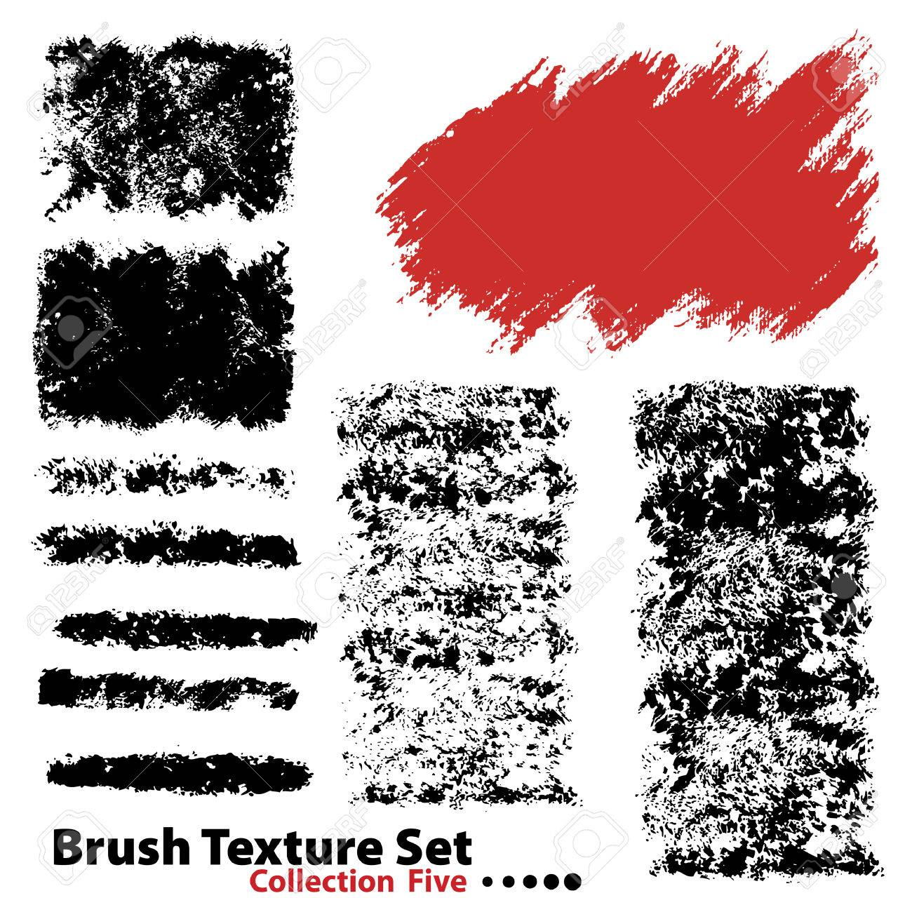 Vector outline traces of customizable organic paint brushes (strokes) in different shapes and styles, highly detailed. Grouped individually, easily editable. Collection set number 5. - 4039153