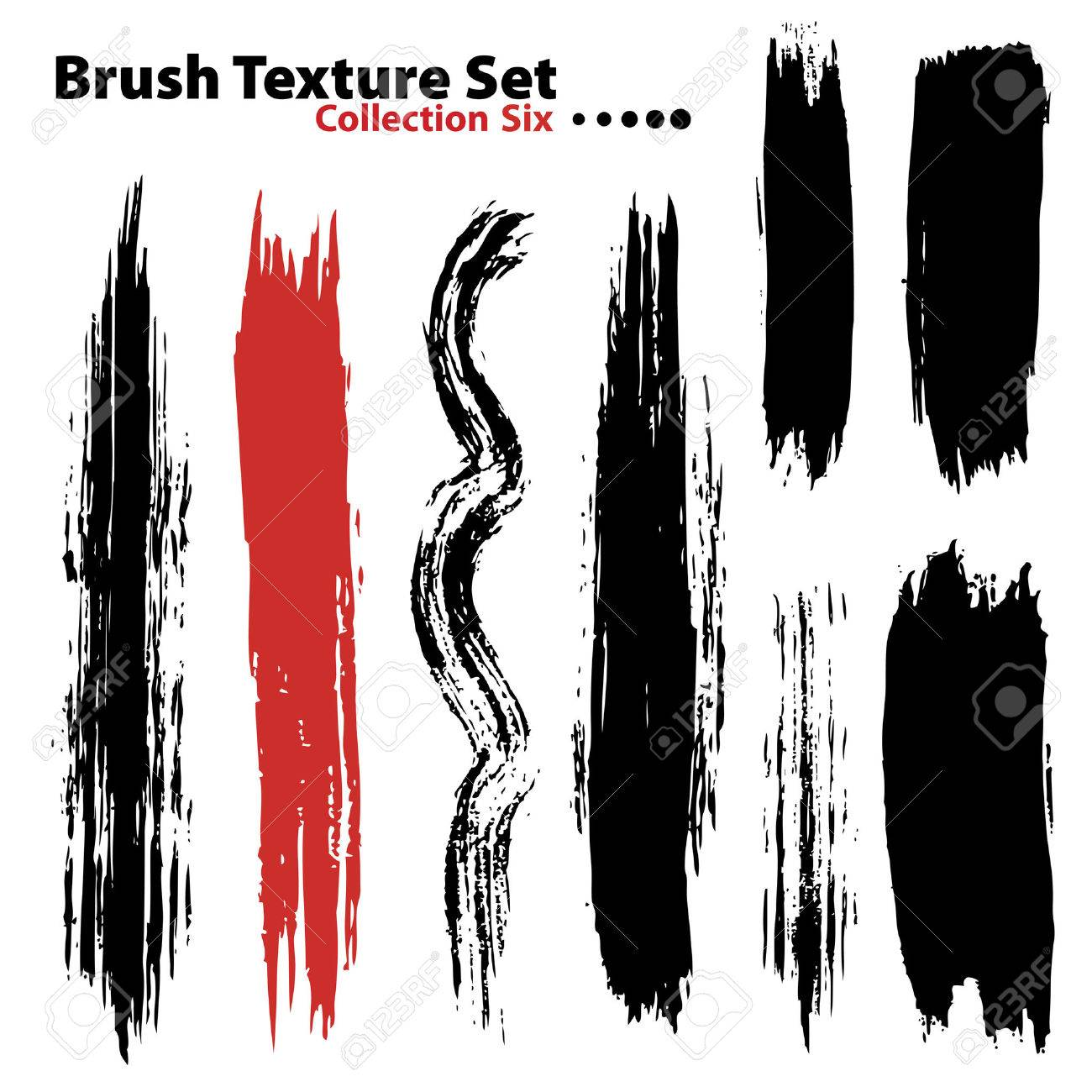 Vector outline traces of customizable organic paint brushes (strokes) in different shapes and styles, highly detailed. Grouped individually, easily editable. Collection set number 6. - 4039133