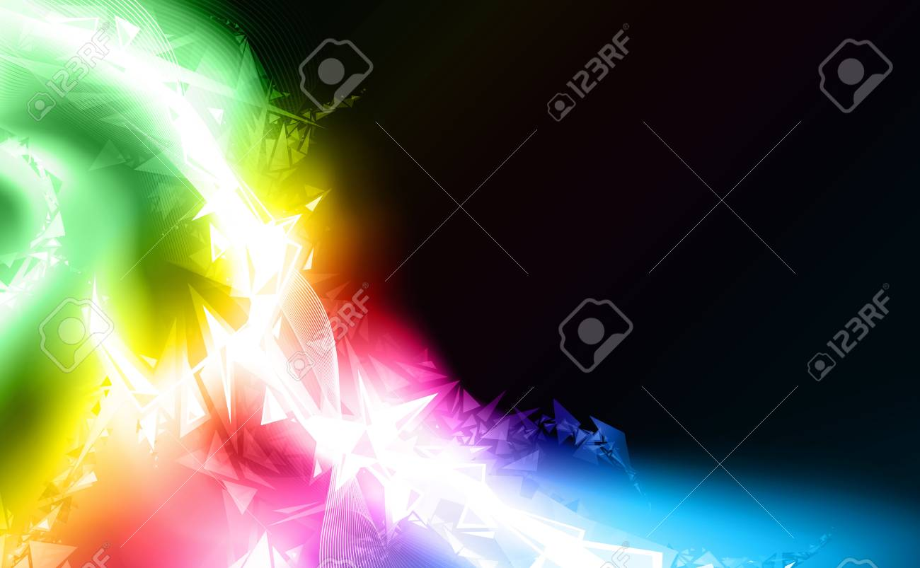 illustration of a conceptual futuristic lined art design falling apart and decomposing into pieces. Stock Illustration - 7042089