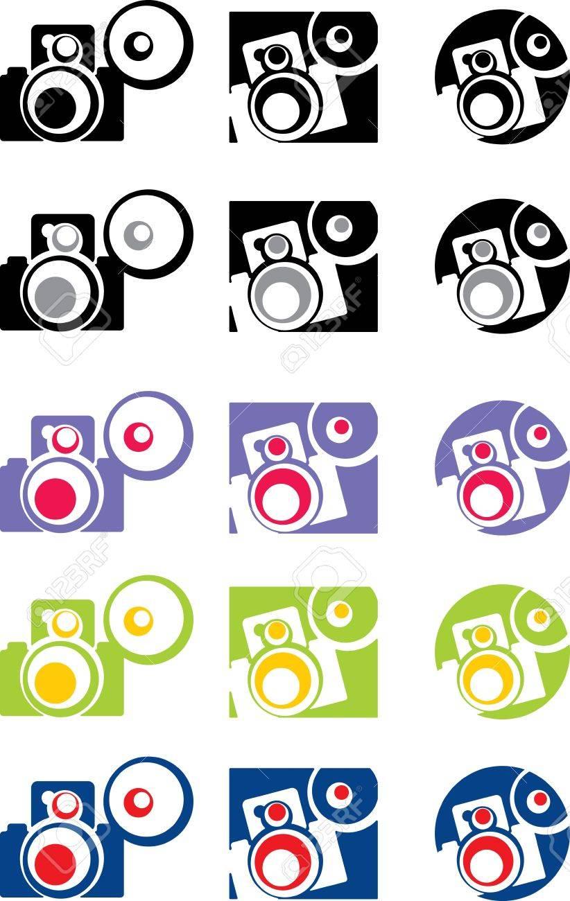 photo camera part 4, vector Stock Vector - 17034741