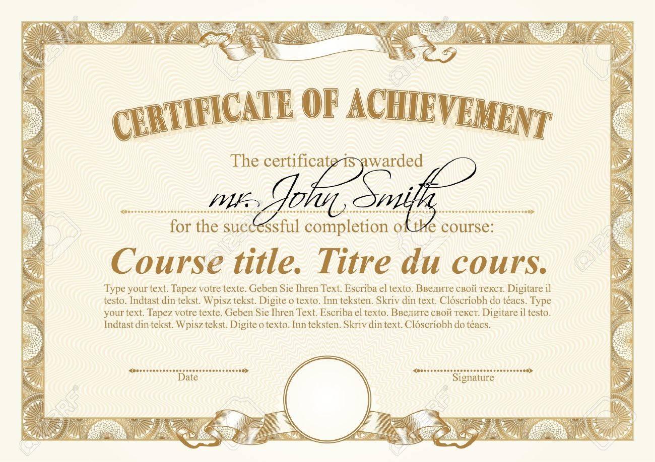 Ausgezeichnet Training Zertifikate Vorlagen Download Bilder ...