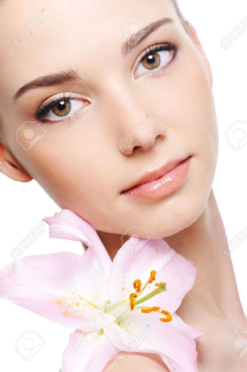 healthy skin of young female face - isolated Stock Photo - 4593767