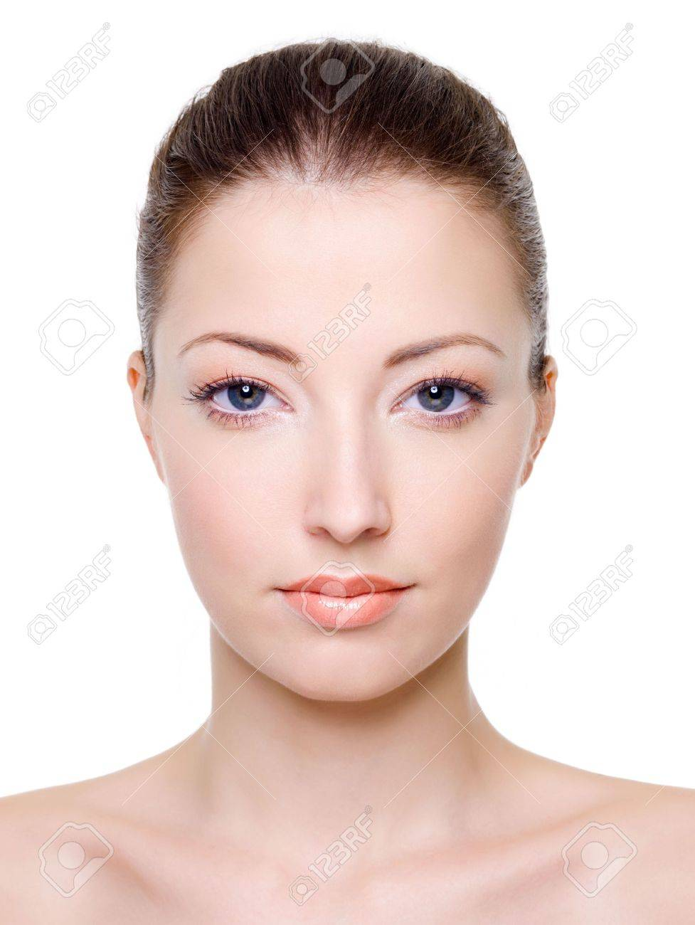 Beautiful caucasian female face with bright fashion makeup Stock Photo - 6101737