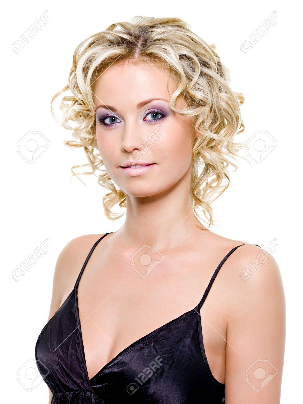 Beautiful smiling woman portrait - isolated on white background Stock Photo - 6808905