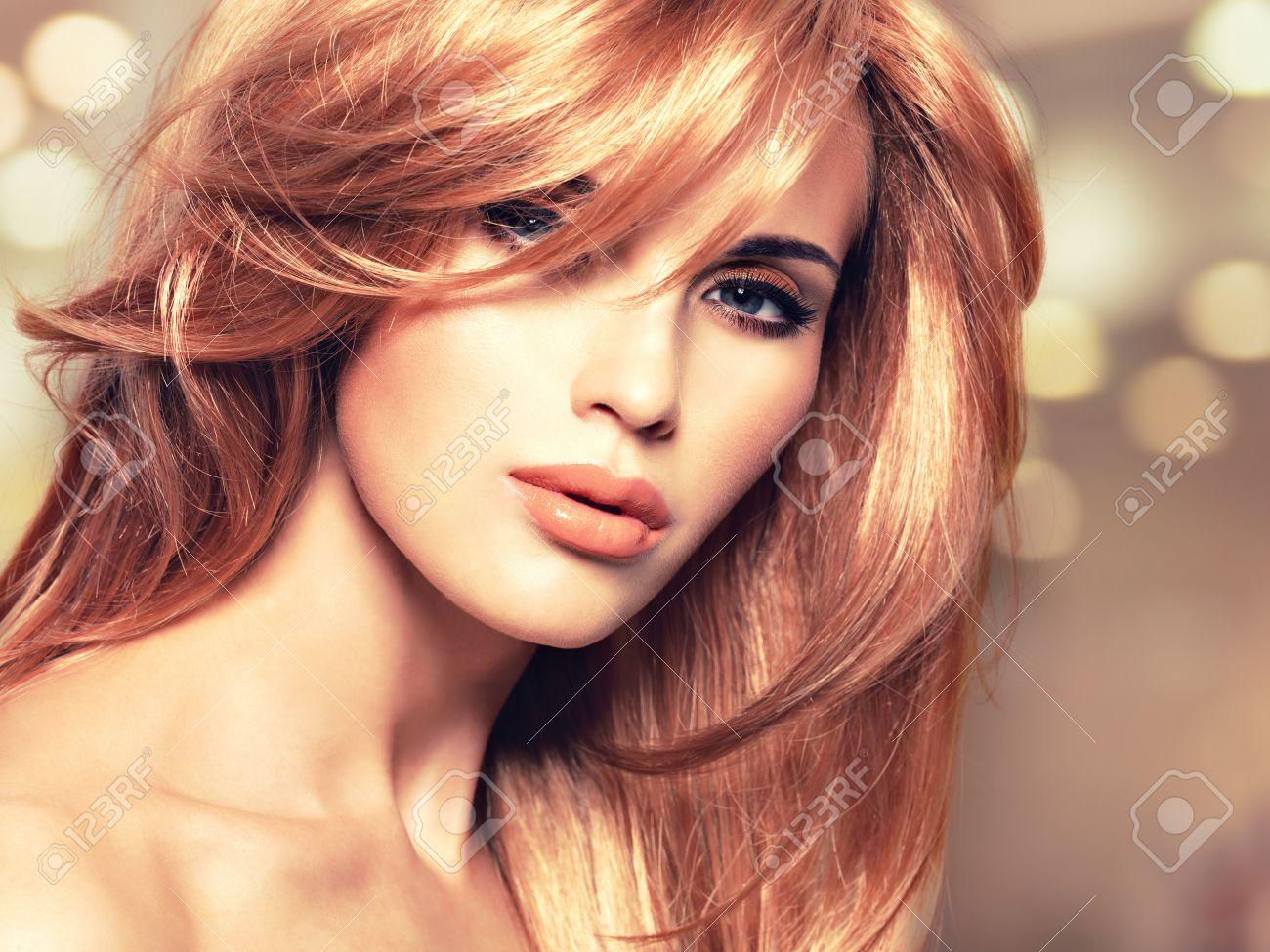 Мелирование на рыжие волосы с челкой