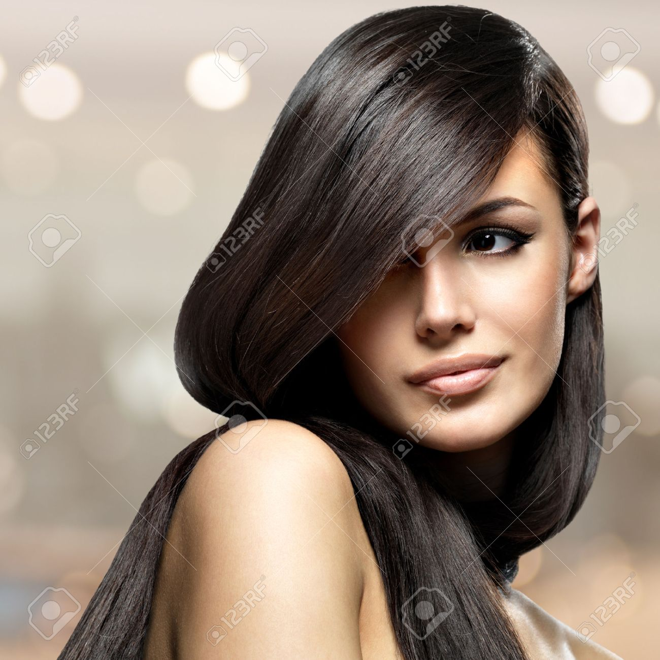 Straight Hair Model Stock Photos & Pictures. Royalty Free Straight ...