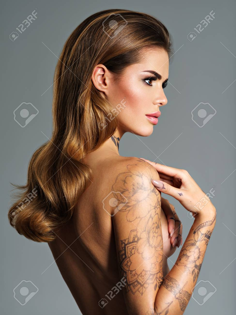 Tattoo of woman sexy
