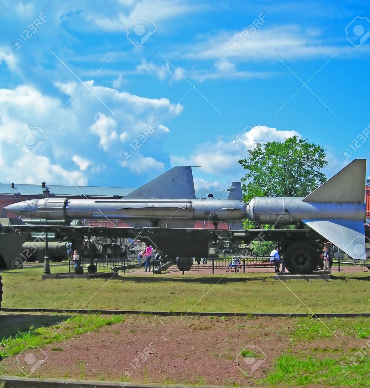 Military Rocket installation is created in Russia Stock Photo - 1456686