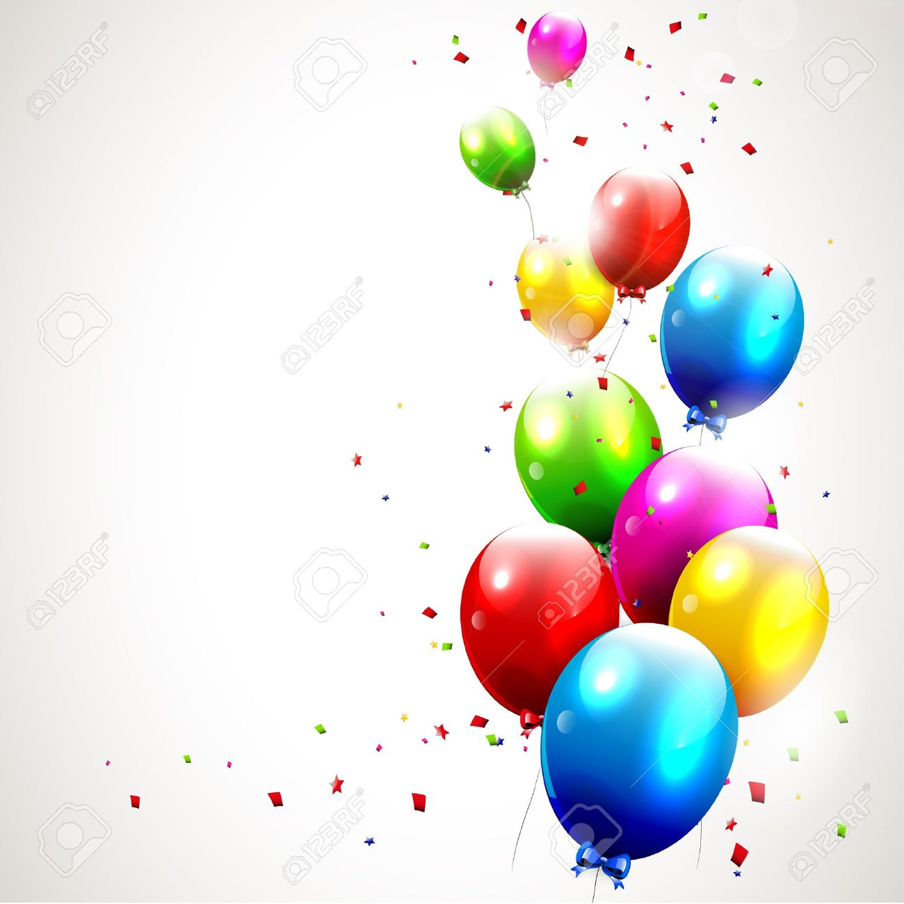 Modern birthday background with colorful balloons Stock Vector - 16464754