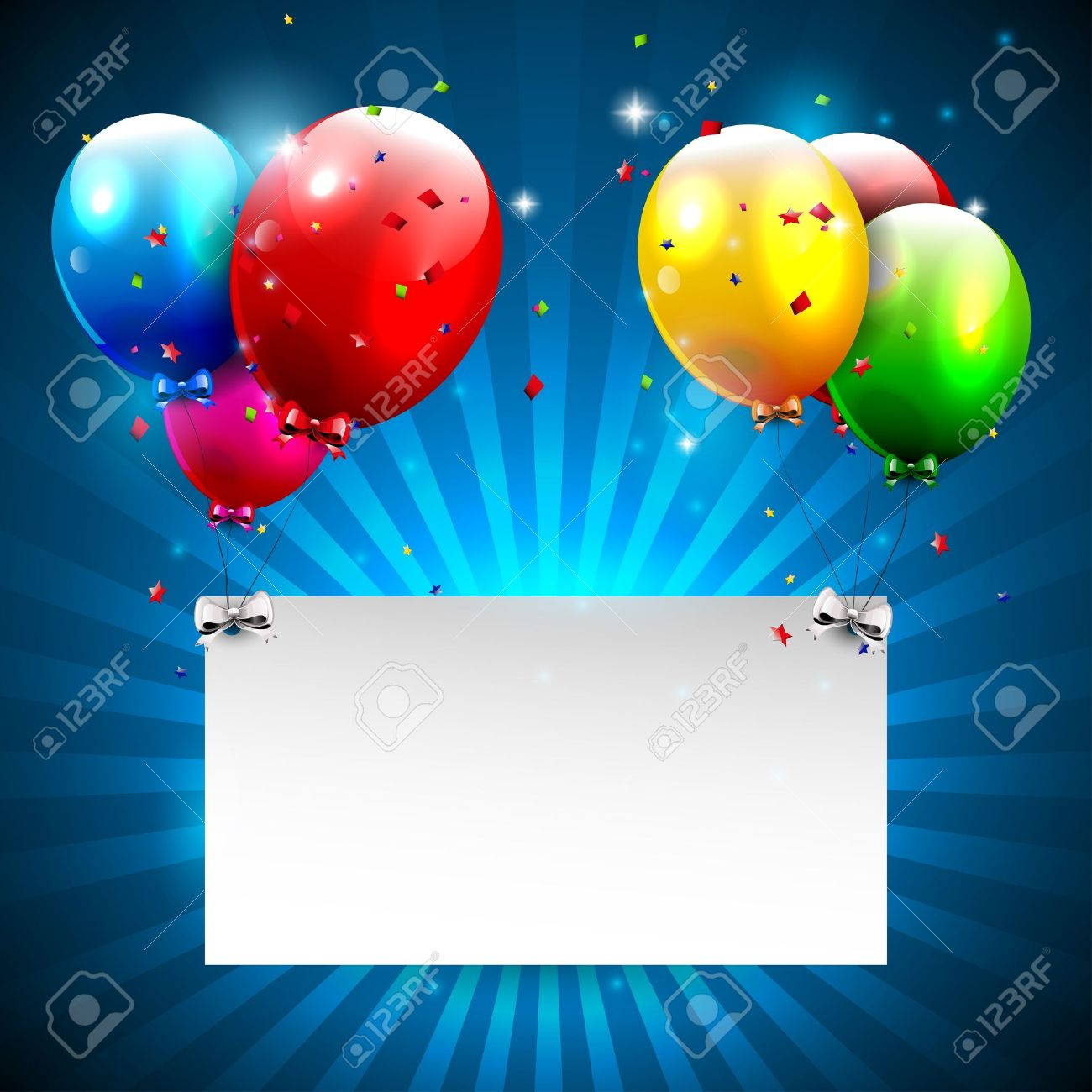 Modern blue birthday background with place for text Stock Vector - 16877273