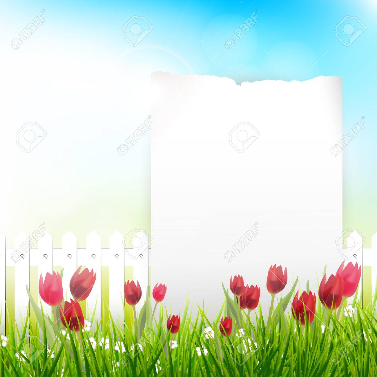 Spring background with place for text Stock Vector - 17676019