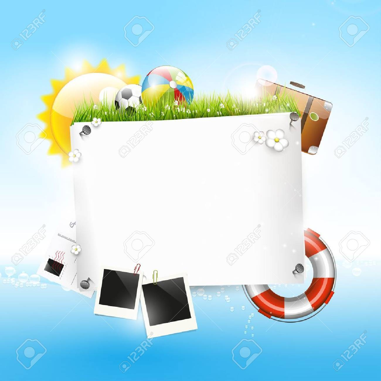 Summer vacation - background with copyspace Stock Vector - 18422212