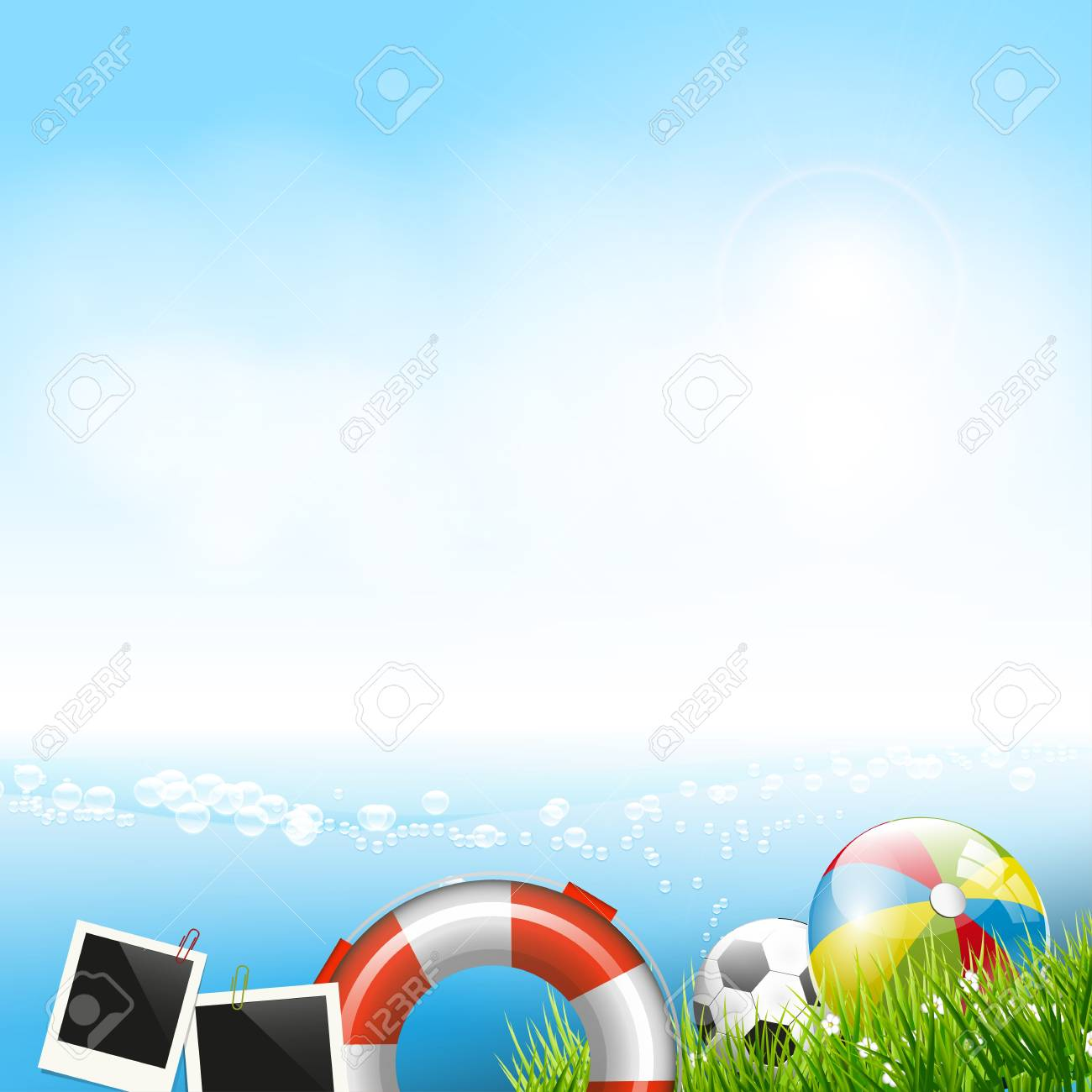 Summer vacation - colorful  background Stock Vector - 18422200