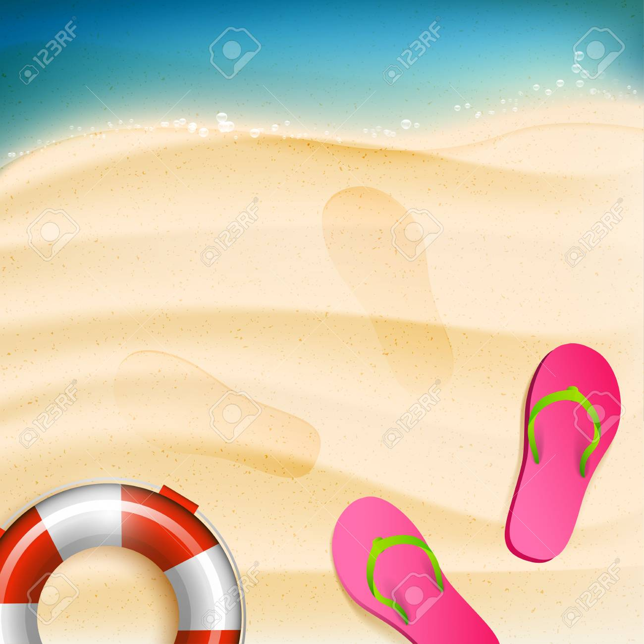Summer holiday background with copyspace Stock Vector - 18967128