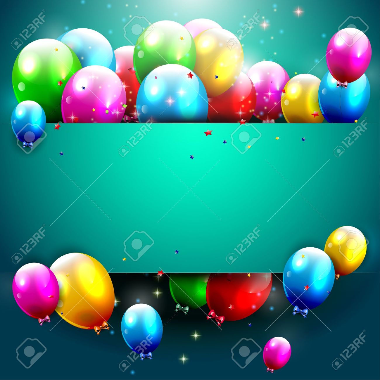 Luxury birthday background with colorful balloons and copyspace Stock Vector - 20900868