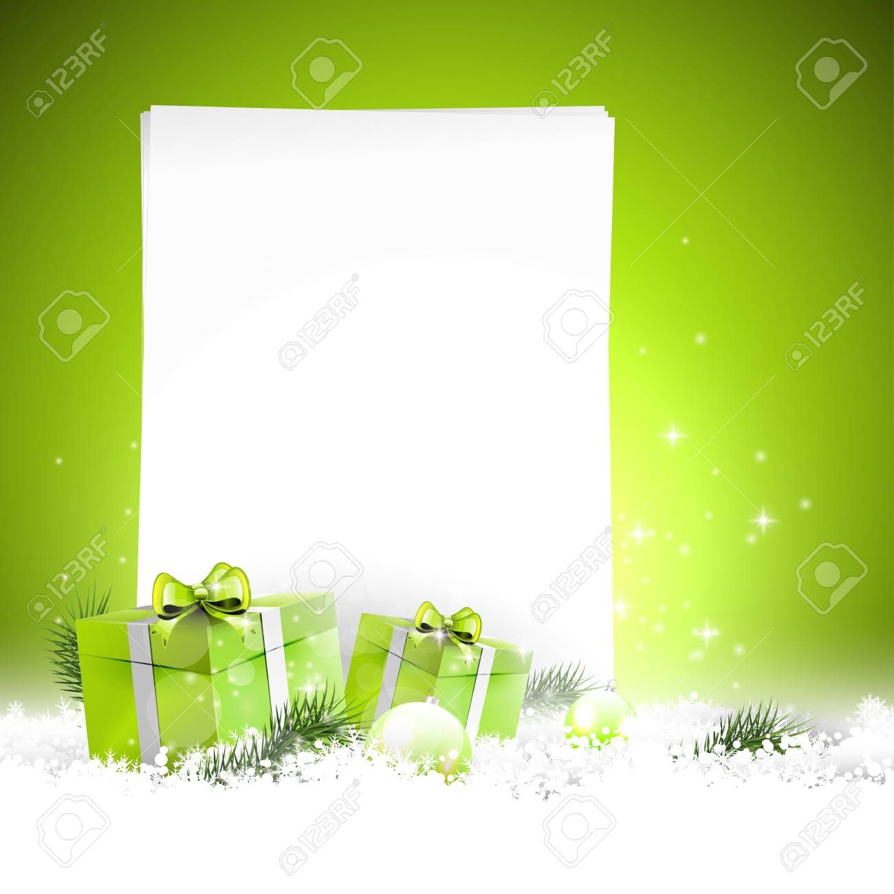 Modern Christmas background with empty paper Stock Vector - 22561667