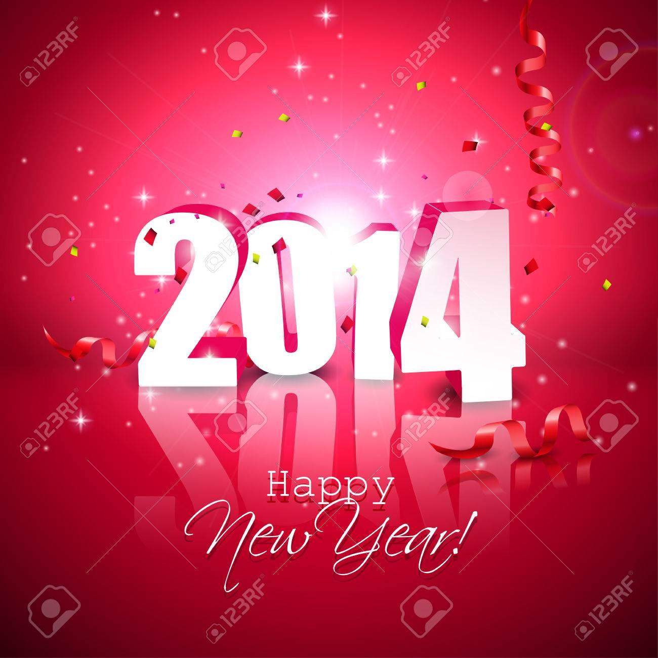Happy new year 2014 modern red greeting card royalty free cliparts happy new year 2014 modern red greeting card stock vector 22860876 m4hsunfo