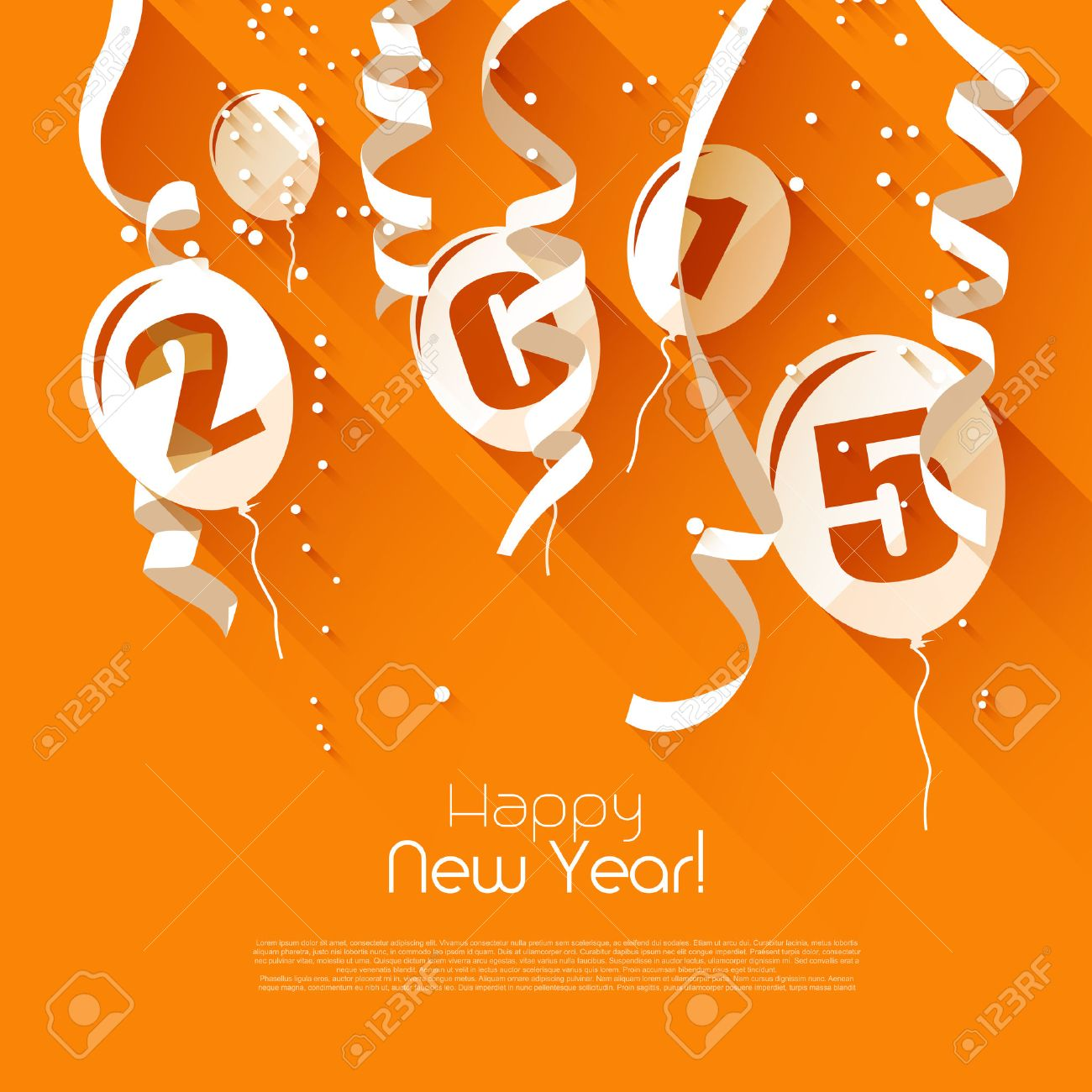 Happy new year 2015 modern greeting card in flat design style happy new year 2015 modern greeting card in flat design style stock vector 34203705 m4hsunfo