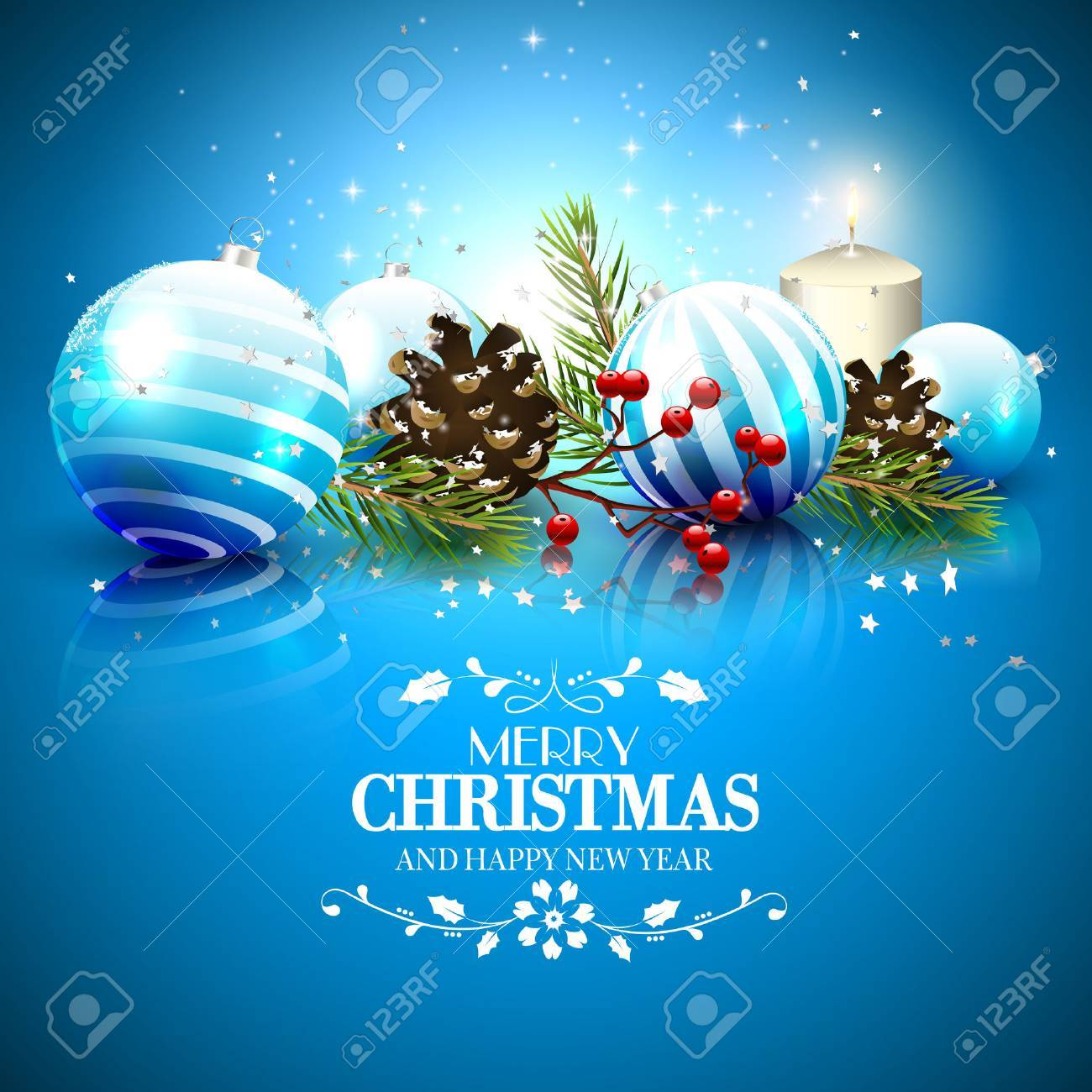 Greeting card stock photos royalty free greeting card images christmas greeting card with traditional decorations and calligraphic lettering m4hsunfo