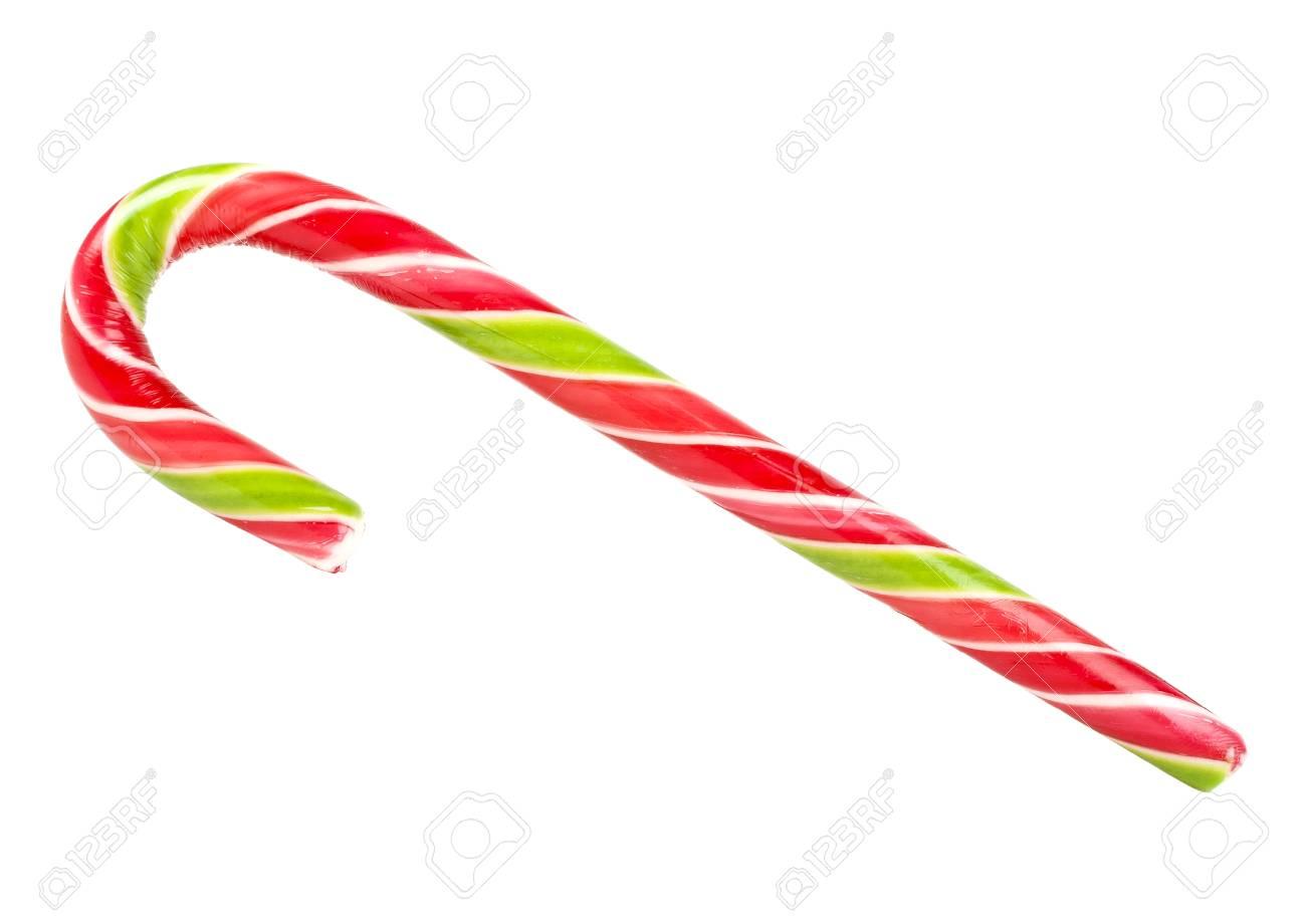 Weihnachten Zuckerstange Isoliert Auf Weißen Hintergrund ...