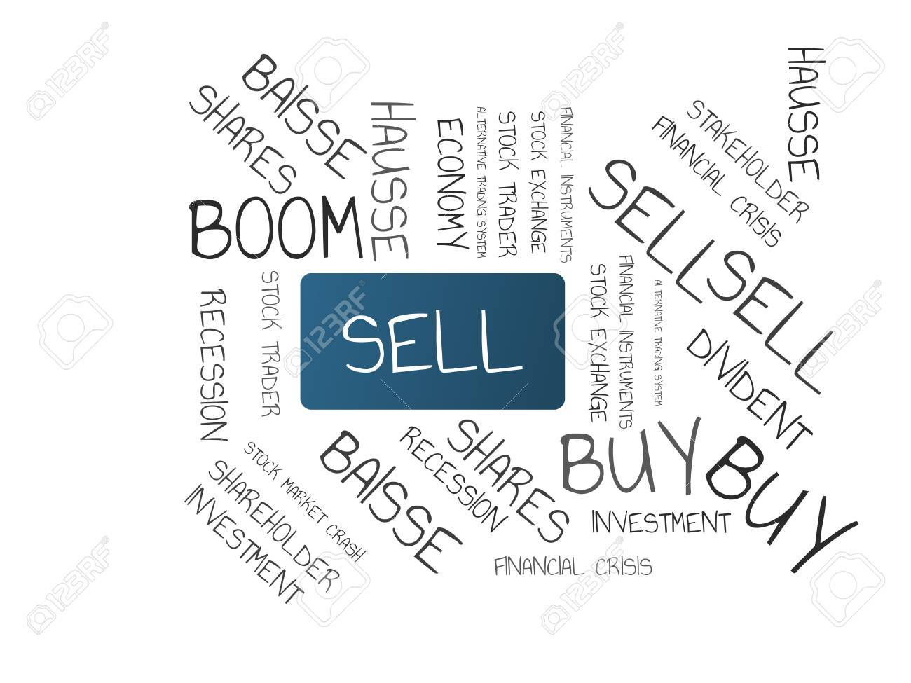 Sell Image With Words Associated With The Topic Stock Exchange