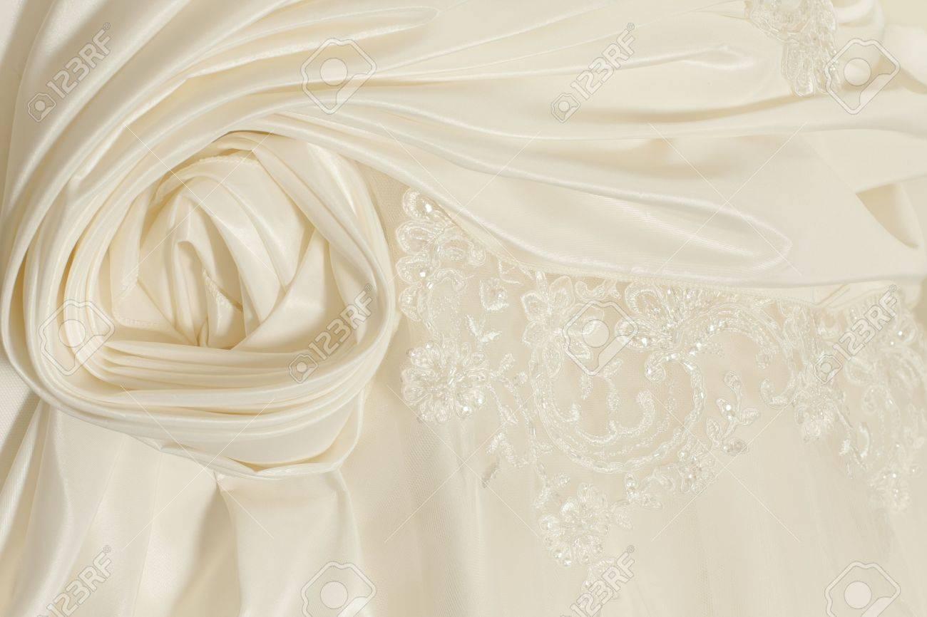 Piece wedding dress of cream silk fabric stock photo picture and piece wedding dress of cream silk fabric stock photo 10618656 ombrellifo Image collections