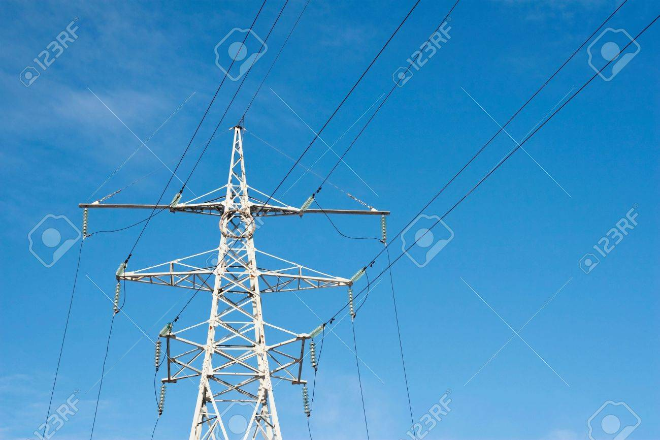 High Voltage Power Supply Line Stock Photo Picture And Royalty Free 6653495