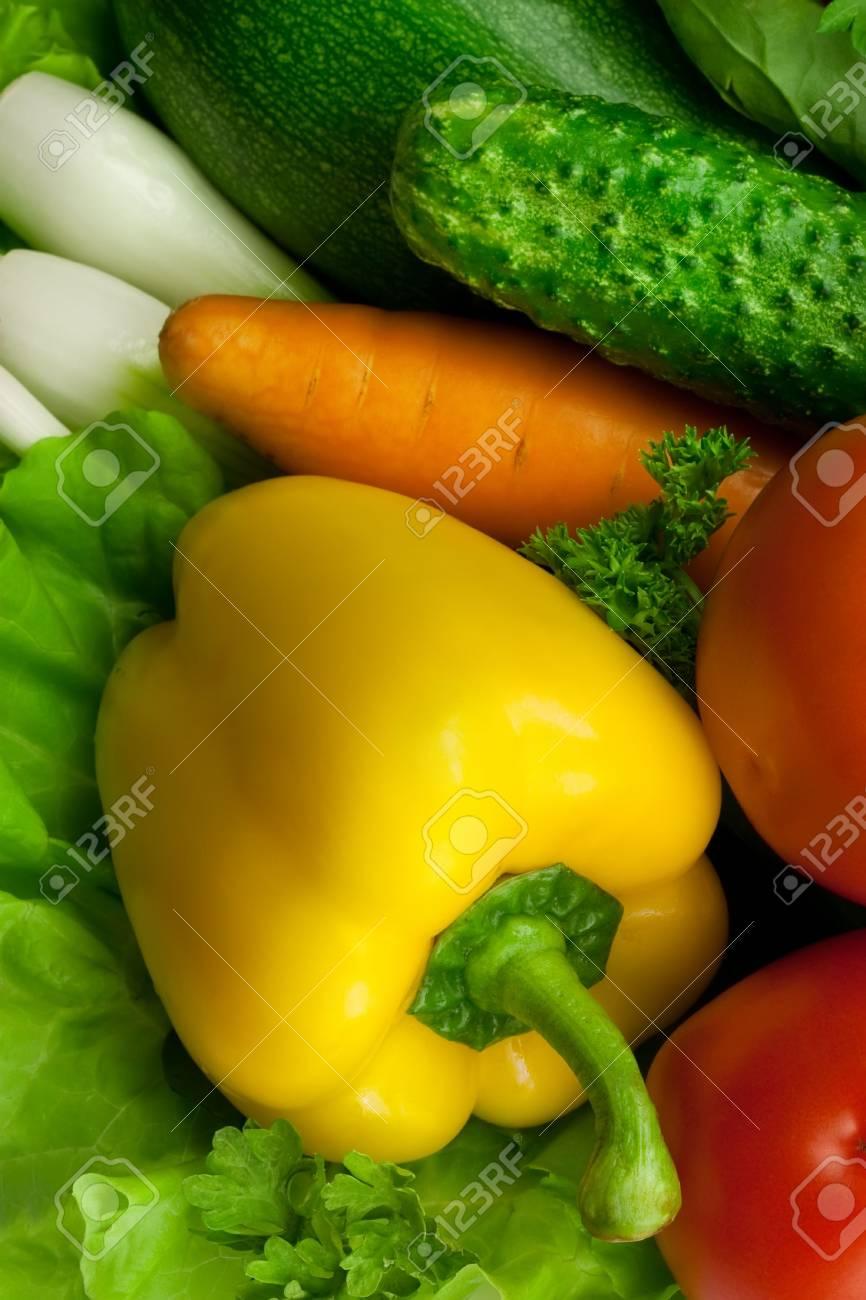 yellow paprika among other fresh vegetables Stock Photo - 7718194
