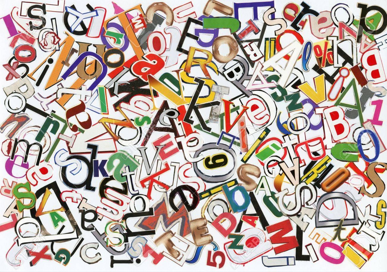 handmade alphabet collage of magazine letters stock photo 8816690
