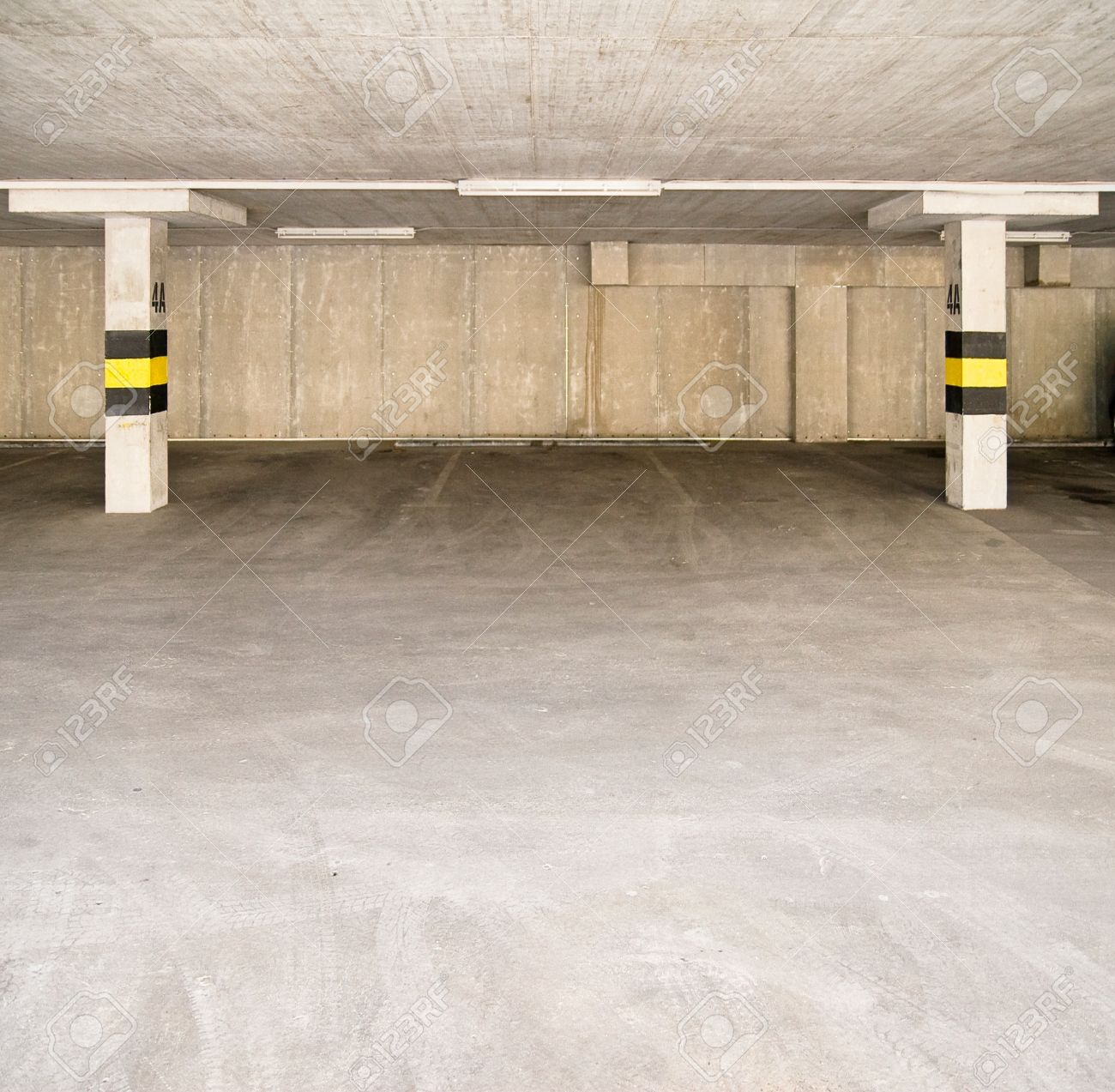Empty parking area, can be used as background Stock Photo - 9152280