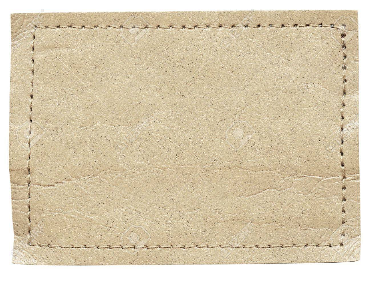 I tag background image - Blank Jeans Label Isolated On White Background Stock Photo 9702749