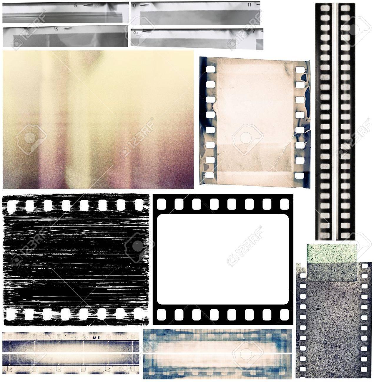Design elements set, film borders, textures. Stock Photo - 9904428