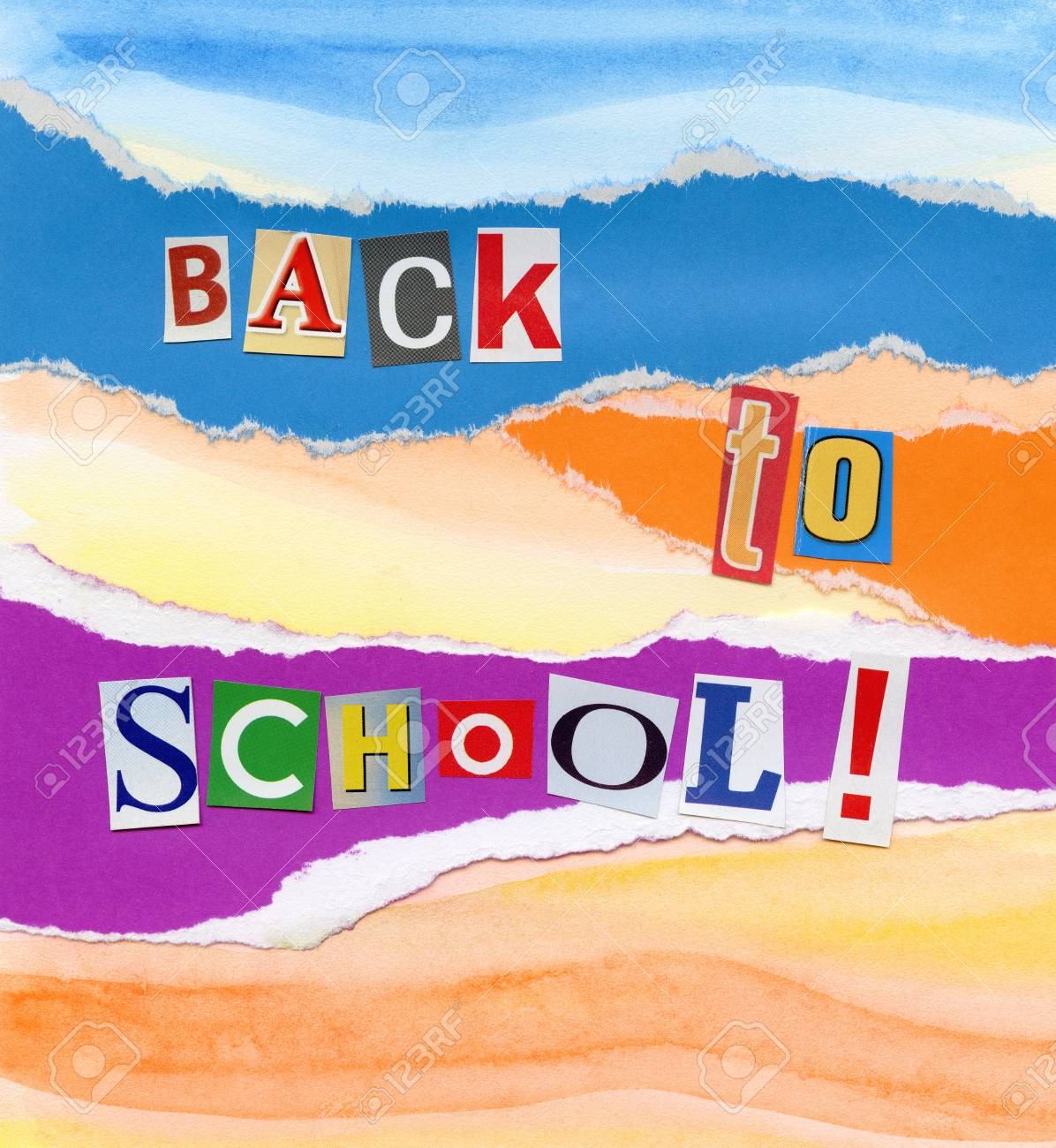 Handmade Back To School Concept Collage Made Myself Stock Photo