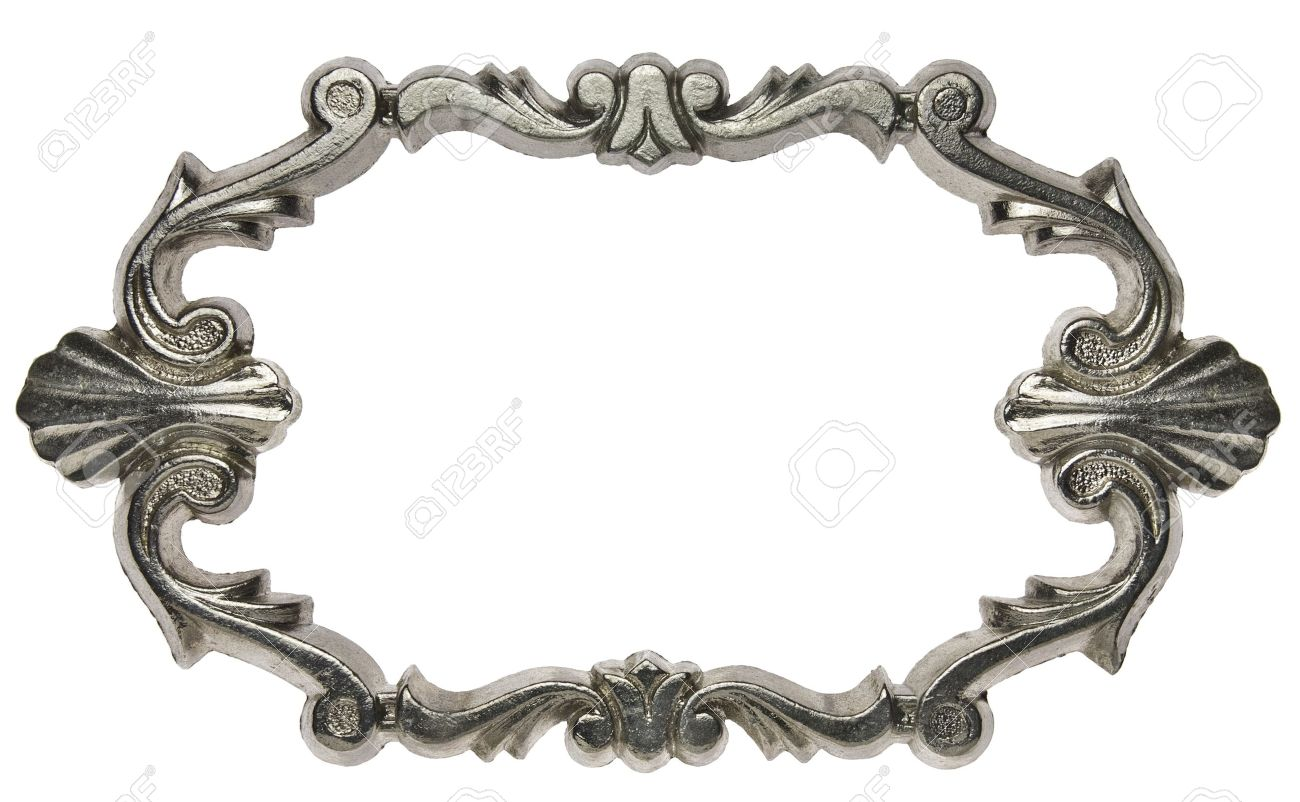 vintage ornate metal frame isolated stock photo 10296191