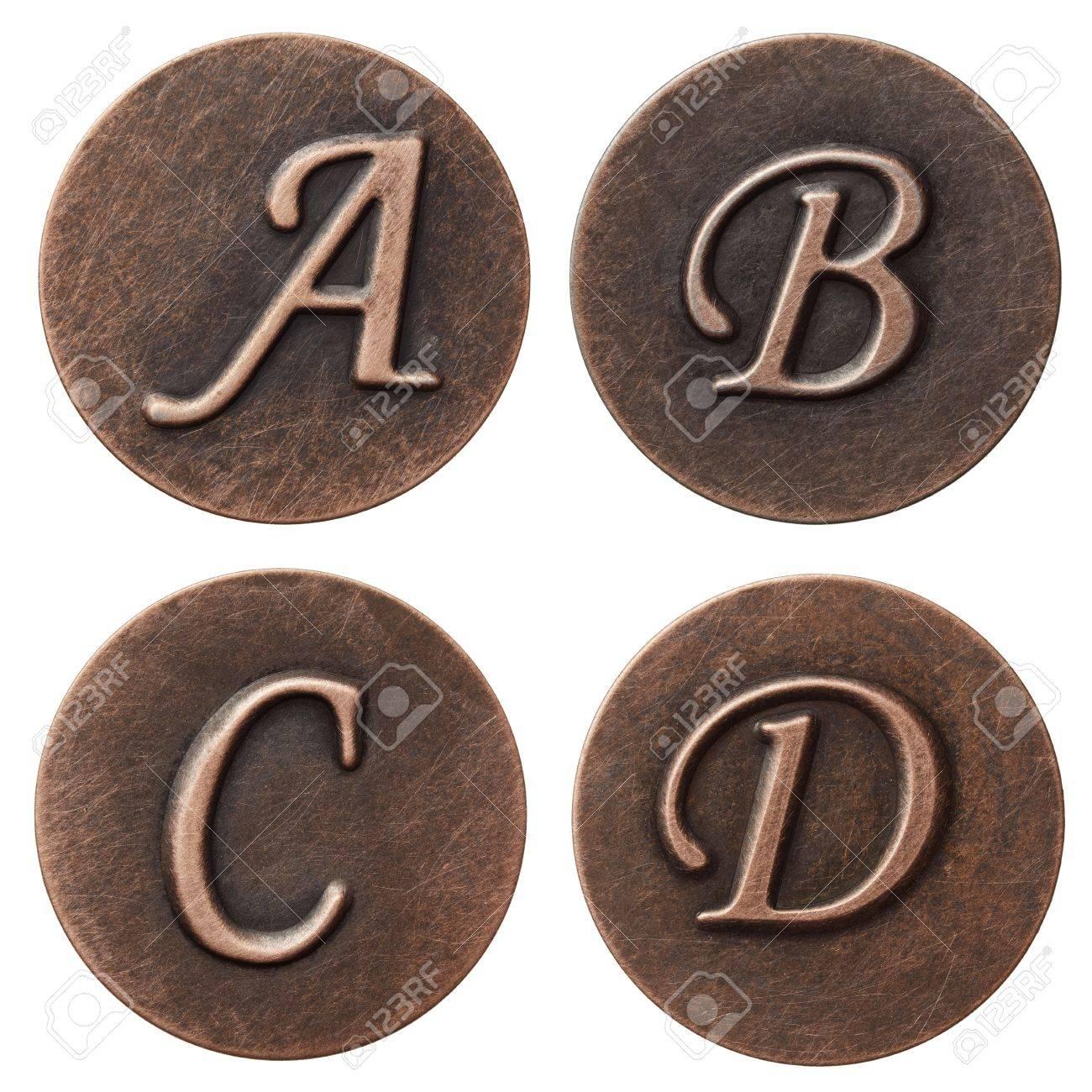 Aged metal vintage alphabet letters. Stock Photo - 10993333