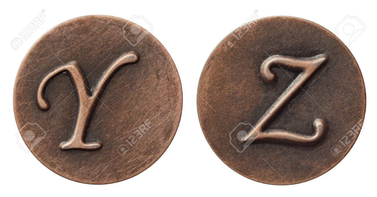 Aged metal vintage alphabet letters. Stock Photo - 10993320