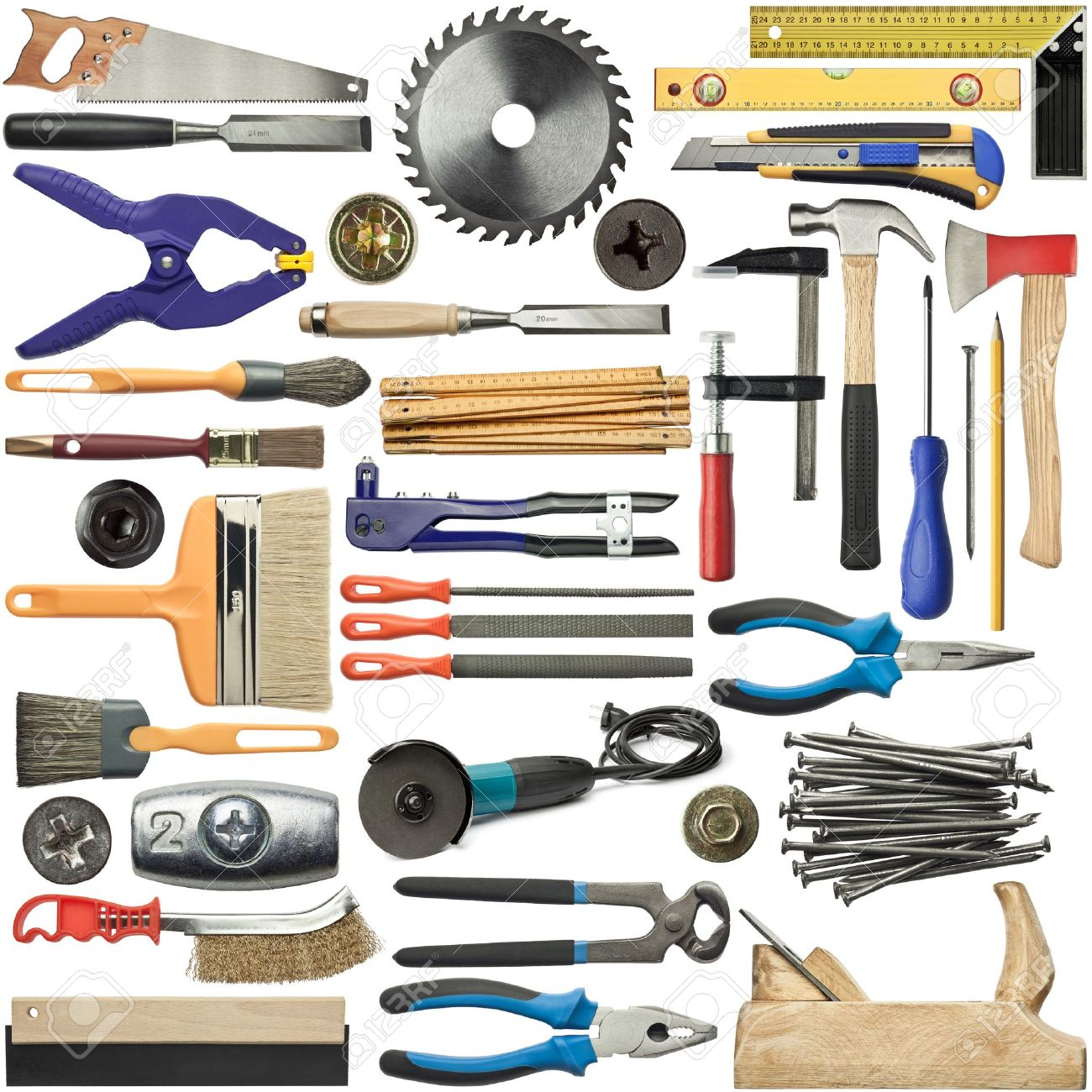 Tools for wood, metal and other construction work. Stock Photo - 11764803