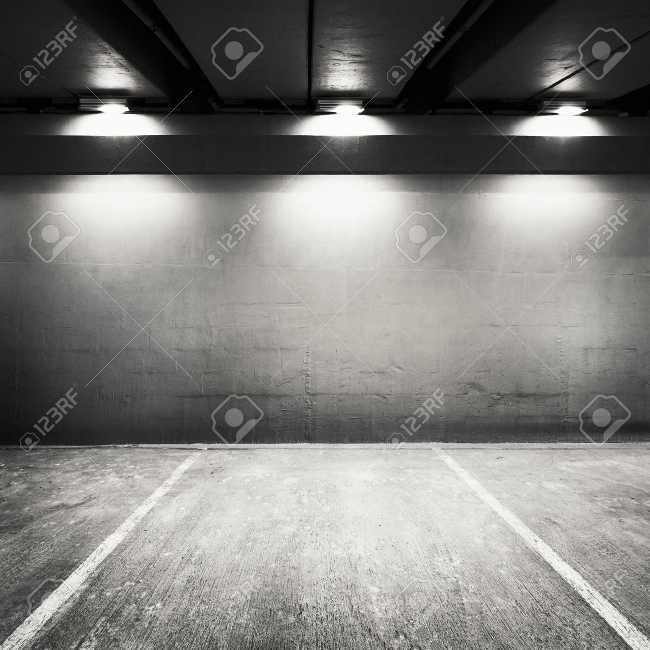 Empty parking lot wall. Urban, industrial background. Stock Photo - 14065013