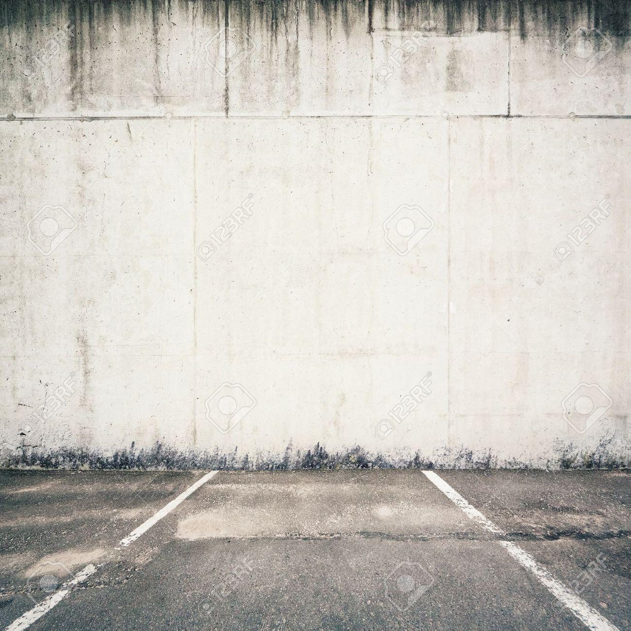 Concrete parking lot wall Stock Photo - 14752749