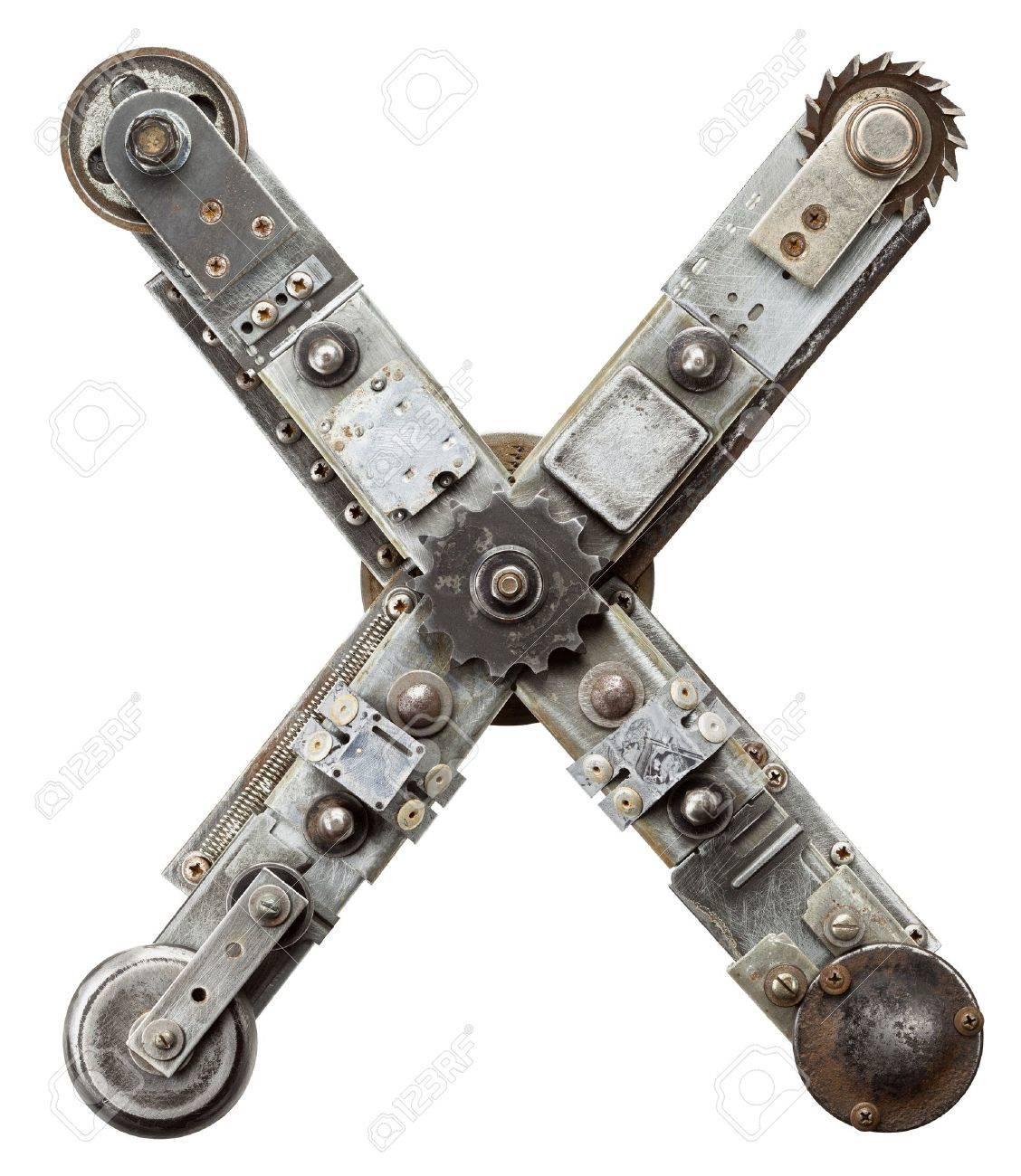 Industrial metal alphabet letter X Stock Photo - 15281246