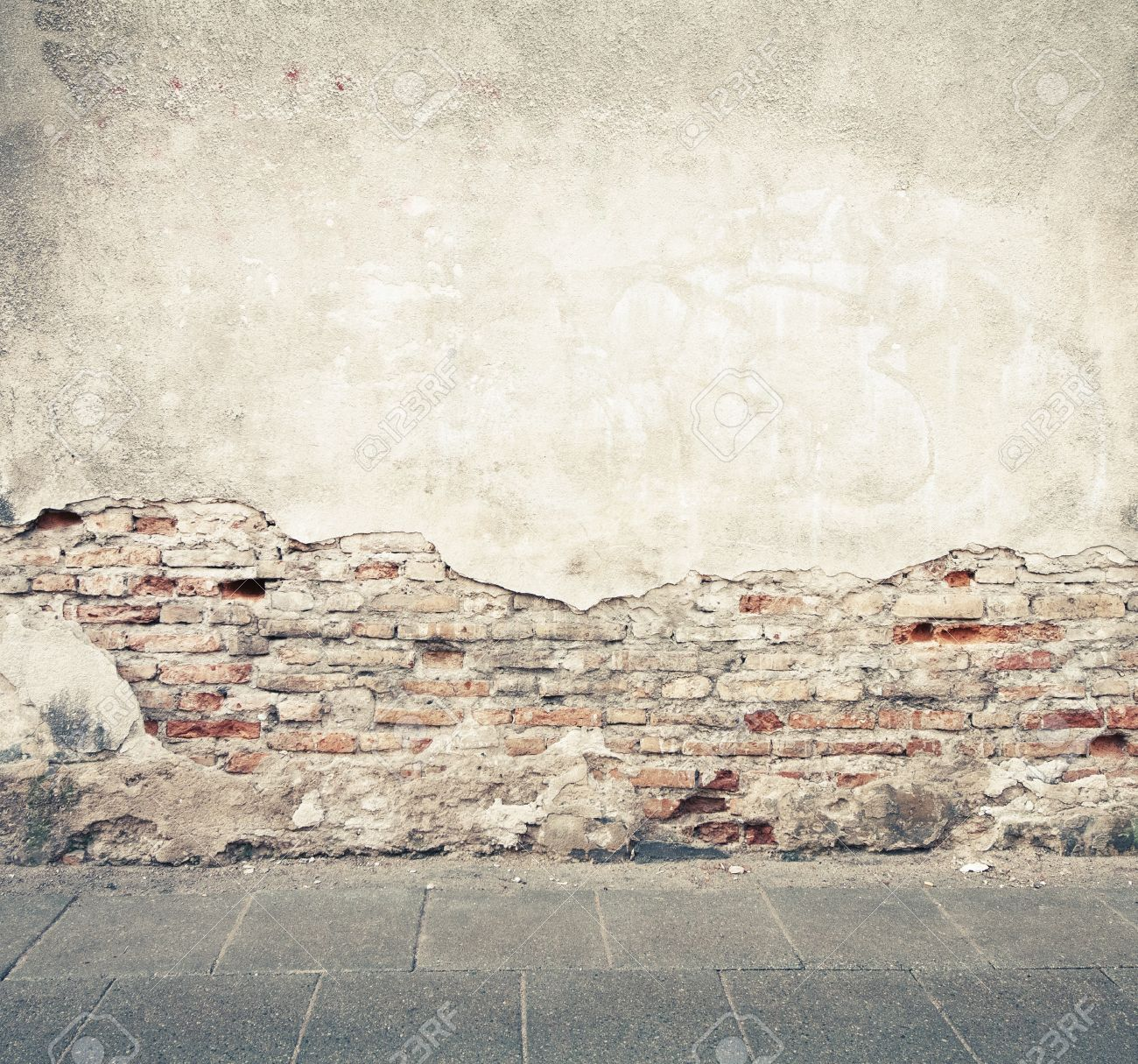 Aged Street Wall Background Texture Stock Photo