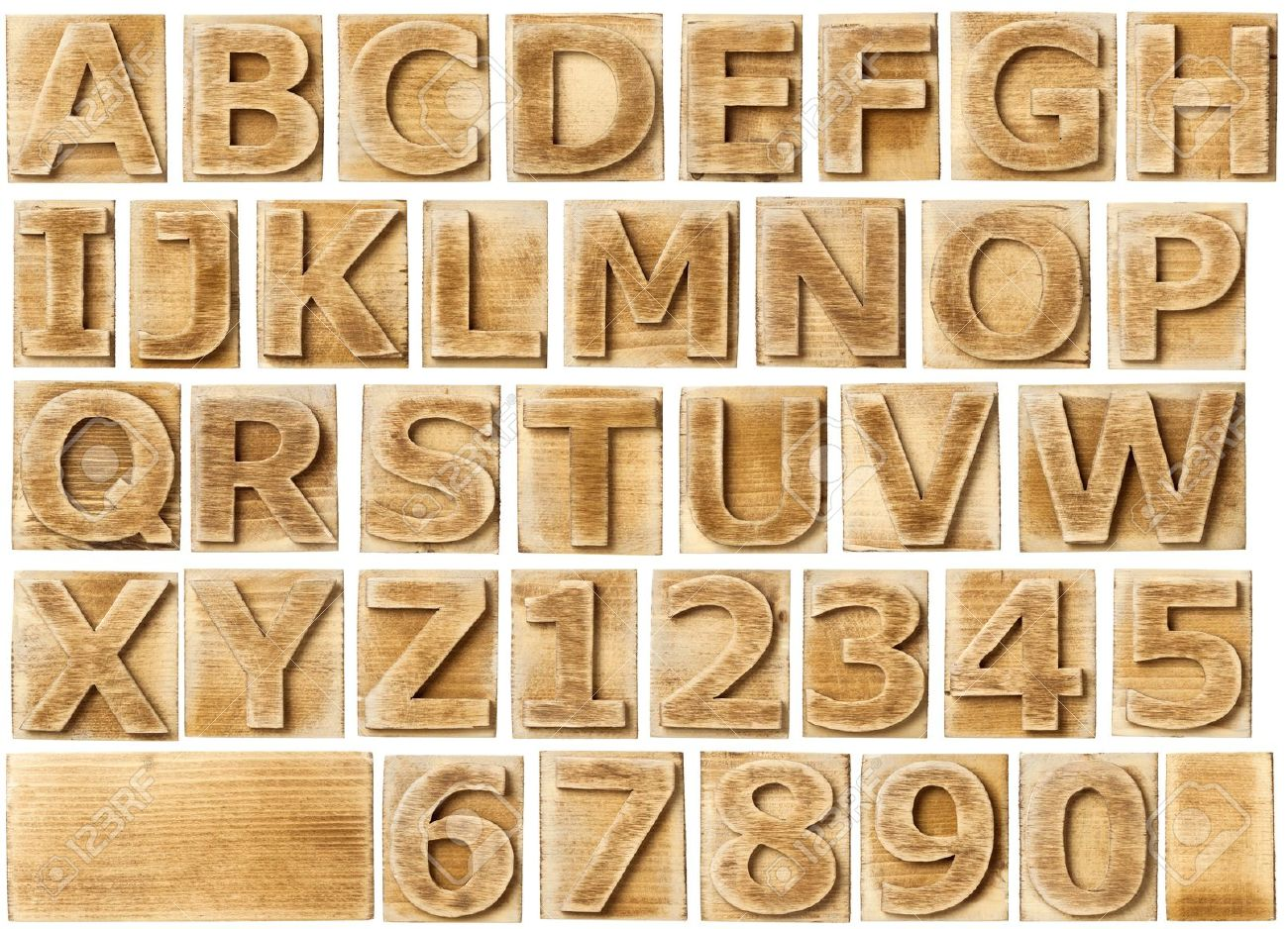 stock photo wooden alphabet blocks with letters and numbers