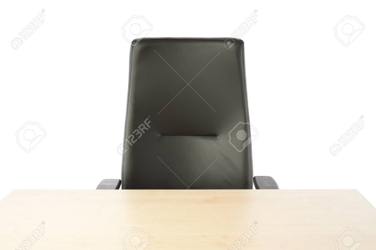 Empty top of the table and leather office chair Stock Photo - 16406891