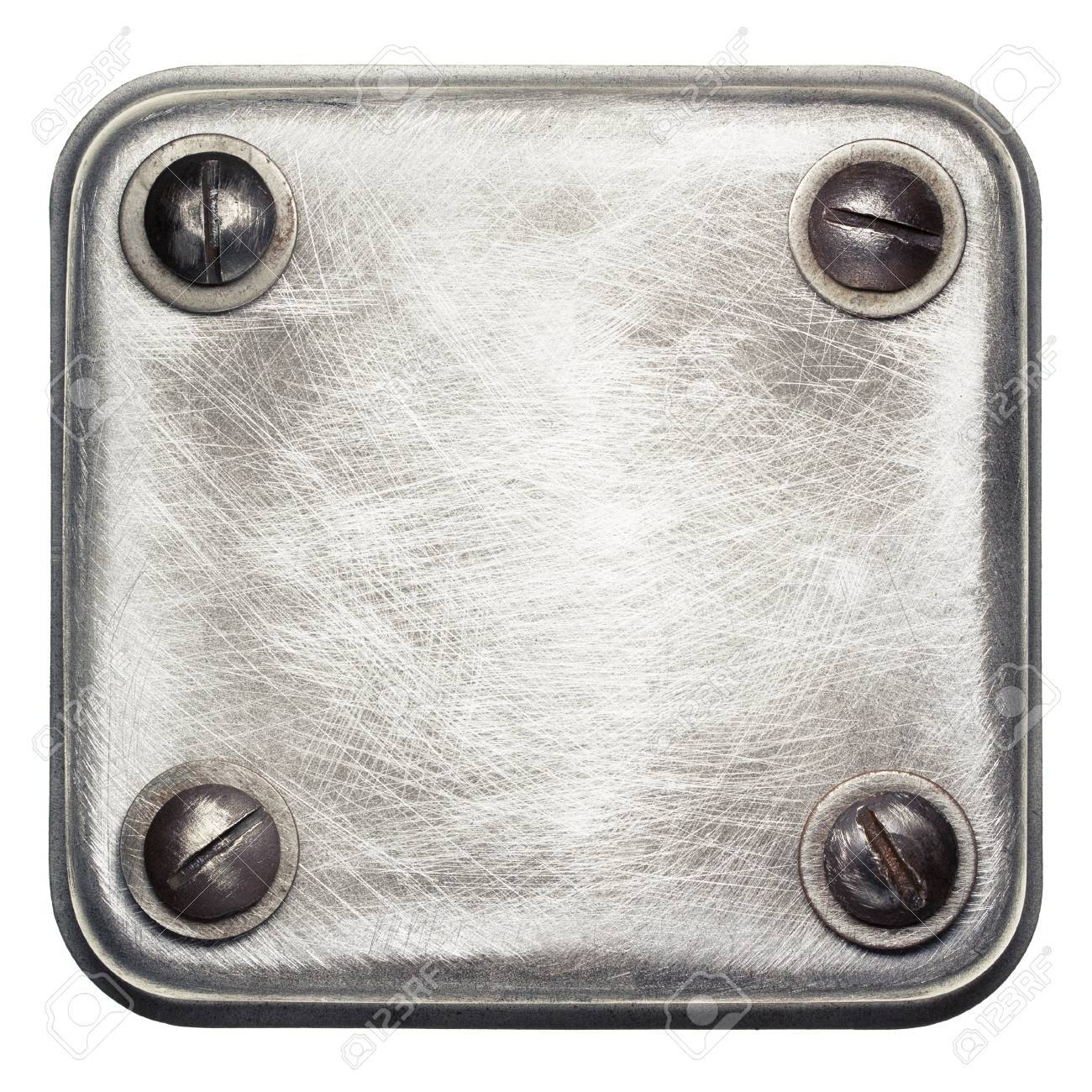 Metal plate texture with screws Stock Photo - 16406893