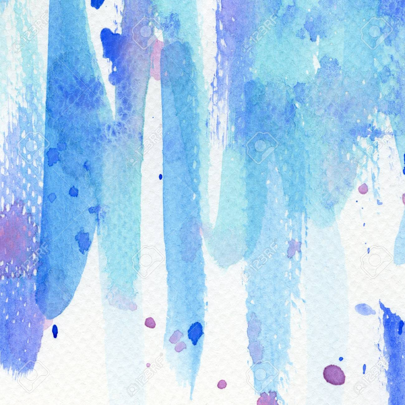 Abstract blue watercolor background, texture Stock Photo - 16334372