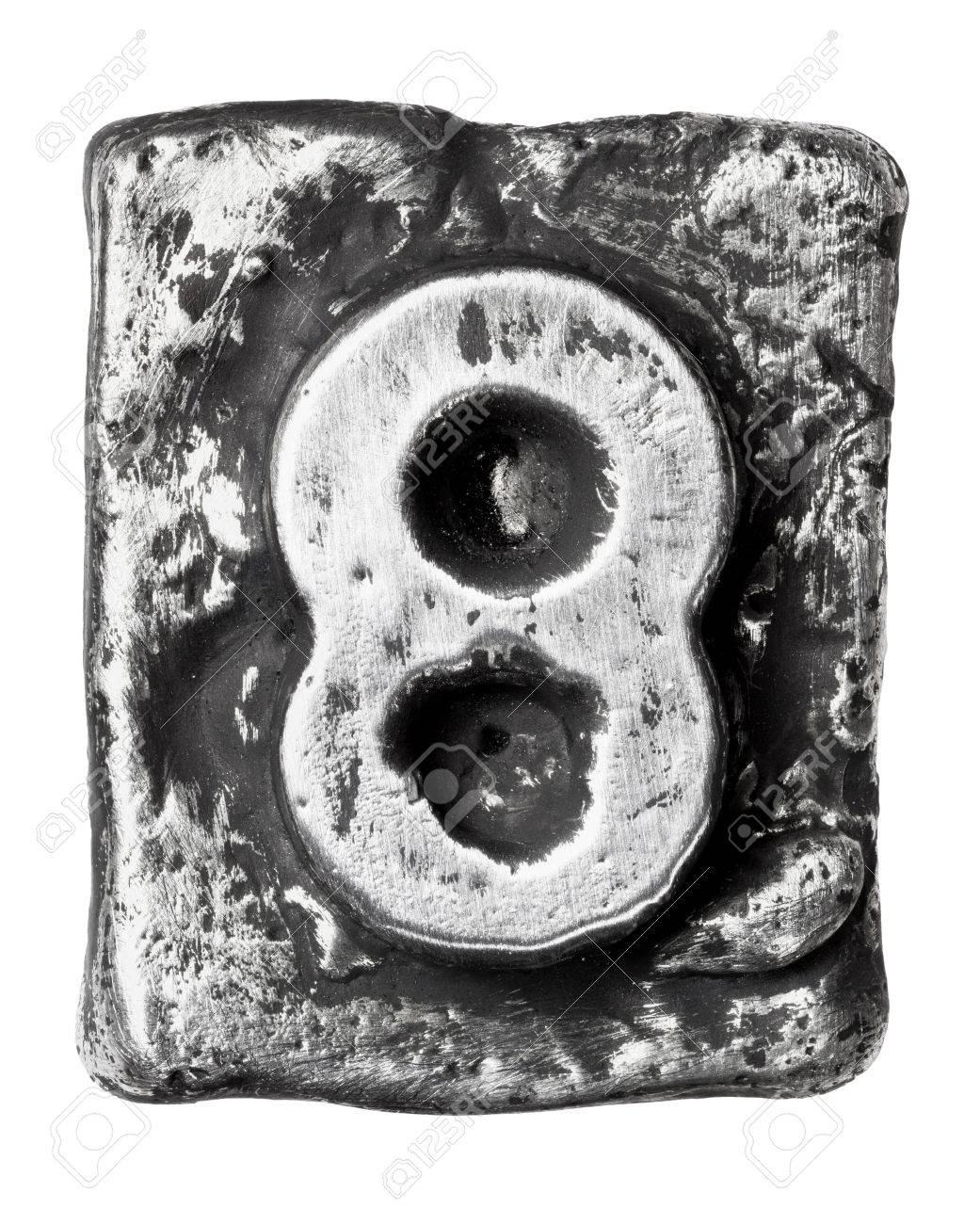 Metal alloy alphabet number 8 Stock Photo - 17354140