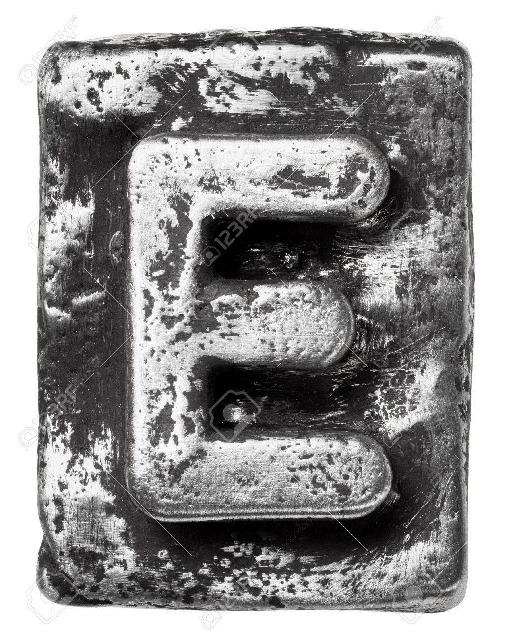 metal alloy alphabet letter e stock photo picture and royalty free