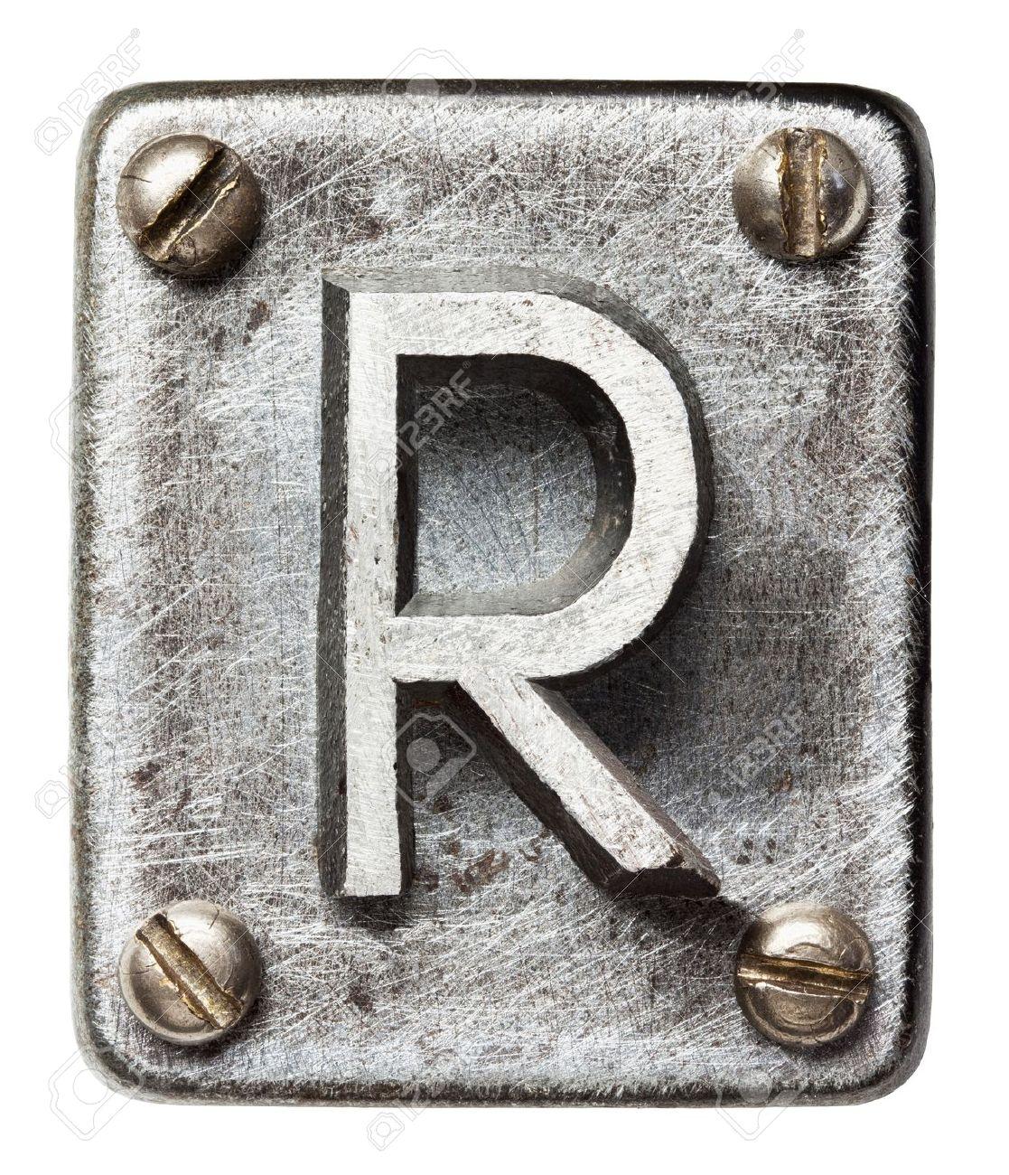 Old metal alphabet letter R Stock Photo - 17803254